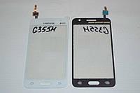 Тачскрин / сенсор (сенсорное стекло) Samsung Galaxy Core II 2 G355 | G355H (белый, SG-355H-R.30, самоклейка)
