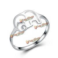 """Кольцо стерлингового серебра 925 пробы """"Слон"""""""