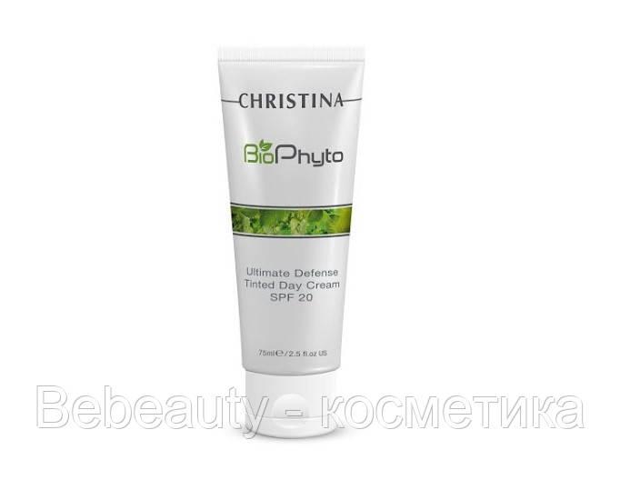 Christina Bio Phyto Ultimate Defense Tinted Day Cream SPF 20 — Дневной крем «Абсолютная защита» SPF 20 с тоном (шаг 8Ь) Кристина, 250 мл