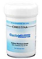 Christina Elastin Collagen Azulene Moisture Cream — Увлажняющий крем для нормальной кожи «Эластин, коллаген, азулен» Кристина, 250 мл
