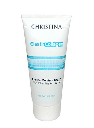 Christina Elastin Collagen Azulene Moisture Cream — Увлажняющий крем для нормальной кожи «Эластин, коллаген, азулен» Кристина, 60 мл