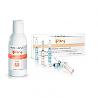 Christina Forever Young Forte Peel + Forever Young-Multi-Peptide Ampoules kit Кристина, 150мл, (5+5амп)