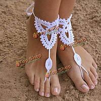 Ножной танцы браслет женщин ювелирные изделия ручной работы хлопка цепи