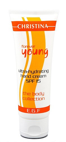 Christina Forever Young Ultra-Hydrating Hand Cream SPF-15 — Ультраувлажняющий крем для руке SPF 15 Кристина, 75 мл