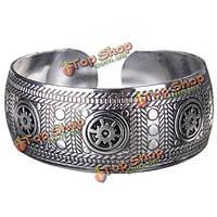 Старинные резные металлические тибетские серебряные браслет для женщин