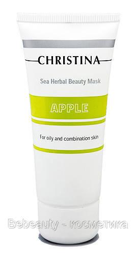 Christina Sea Herbal Beauty Mask Green Apple — Маска красоты для жирной и комбинированной кожи «Яблоко» Кристина, 60 мл
