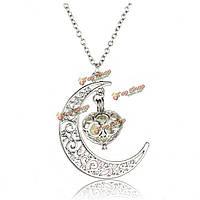 Стимпанк полая луны светятся в темноте светящейся ожерелье