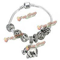 Старинные серебряные бусы слона кулон браслет для женщин