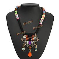 Старинные красочные драгоценный камень нагрудник воротник заявление ожерелье ювелирных изделий