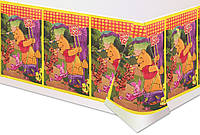 """Скатерть детская с Диснеевским рисунком из полиэтилена """"Винни,Тигра,пятачек"""""""