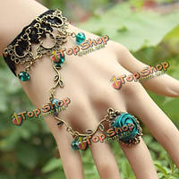 Браслет-кольцо в восточном стиле цветочный