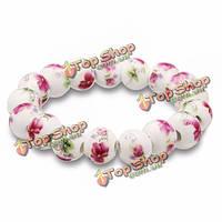 Китайский фарфор цветок живопись бисера браслет женщин ювелирные изделия