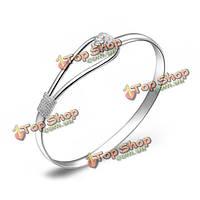 Посеребренные цветок Браслет-манжета браслет ювелирные изделия женщин