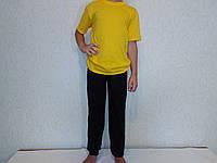 Штаны спортивные детские темного цвета на манжете., фото 1