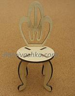 Кукольная мебель Стульчик (под роспись, декупаж)