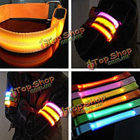 LED браслет безопасности светоотражающий ремень оснастки Wrap браслет мигающий