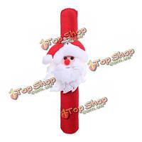 Санта Клаус снеговика олень круг запястья браслеты рождественские