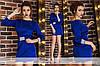 Платье облегающего силуэта короткое на поясе с рукавом 3/4 054 ЛЗ