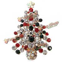 Зеленый красный елка горный хрусталь брошь контактный Рождественский подарок