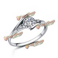 925 серебро Австрия кольца кристалла палец для женщин свадебные украшения