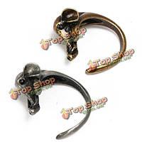 Старинные милые животные слон регулируемый обруч кольца для женщин