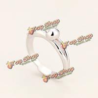 Стерлингового серебра 925 милый кот открытие кольца для женщин регулируемые