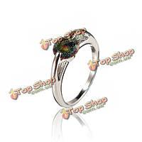 Фиолетовый горный хрусталь циркон сплава полый палец кольцо для женщин