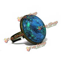 Круглый смола звездное небо светятся в темноте ночной звезды светящиеся кольца