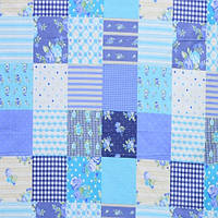 Бязь Голд Голубые квадраты