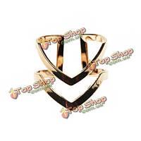 Золотой серебряный блестящий двойные линии V образный миди кулак кольцо для женщин