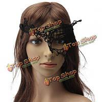 Vogue кружева пол-лица глаза маски венецианского карнавала полые маскарад маски