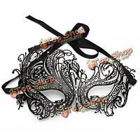 Пол-лица металл стразы маска для глаз венецианский карнавал маскарад маска