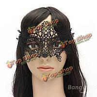 Секси леди черное кружевное глаз маски Хэллоуина маскарадные маски