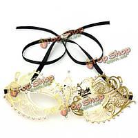 Золото металл стразы маска для глаз венецианский карнавал маскарад маска