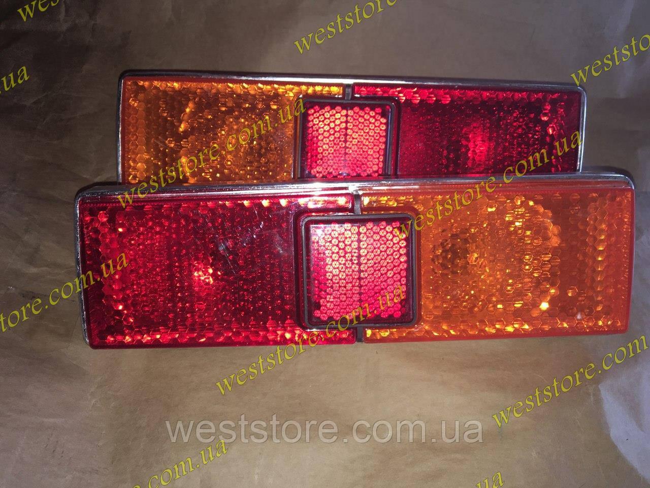 Фонари задние Ваз 21011/21013 корпус Хром желто/красные Формула Света (к-кт 2шт) корпус пластик