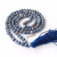 Природные голубой агат камень четки браслет ожерелье ювелирных изделий