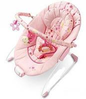 Детское Музыкальное кресло-качалка Розовое Bright Stars 6911