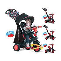 Трёхколесный велосипед Smart Trike Boutique 4 в 1 Черно-красный 8005202