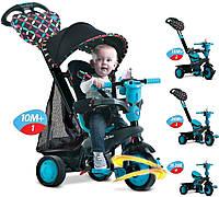 Велосипед трехколесный Smart Trike Boutigue 4 в 1 черно-синий 8005102