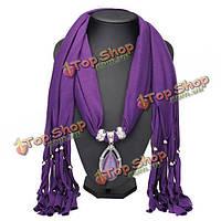 Капля воды камень кристалл кулон ожерелье женщин ювелирные изделия шарф с кистями