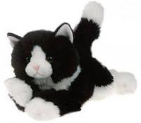 Кошка чёрнобелая 30см арт 61727A