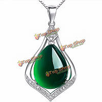 925 серебро кристалл циркона кулон халцедон для цепи ожерелье
