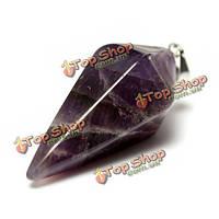 Шестиугольная пирамида природный камень кристалл кварца кулон ожерелье