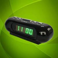 Настольные часы 716-4 LED-дисплей, будильник. Яркое зелёное свечение.