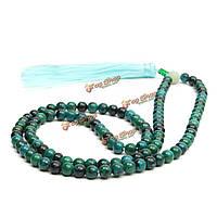 108шт 6мм темно-зеленый нефрит четки браслет ожерелье ювелирных изделий