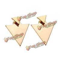 Золото серебро геометрические треугольник Стад Серьги для женщин панк ювелирных изделий