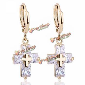 Крест kuniu серьги кулон в форме прозрачного хрусталя циркон болтаться