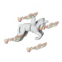1шт 3D белая лошадь животное единорог прокола уха серьга мужская