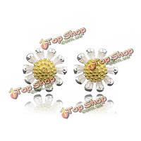 Корейские стерлингового серебра 925 пробы маленький цветок ромашка уха серьги стержня
