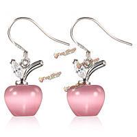 Посеребренные опал яблока форма кристалла падение мотаться серьги кулон